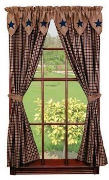 Ihf Window Treatments Vintage Star Navy Panels By Ihf
