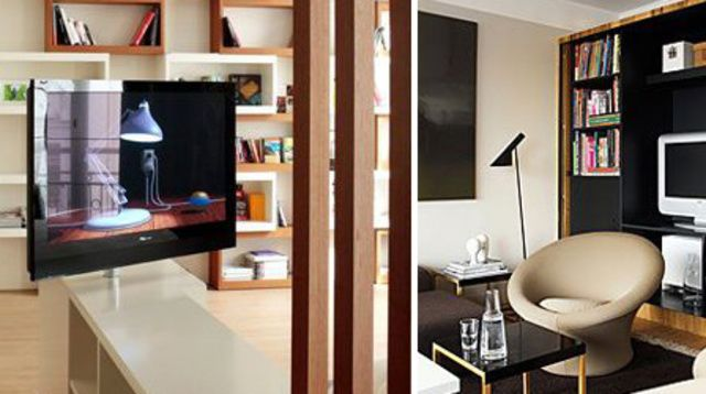 les 25 meilleures id es concernant meuble tv pivotant sur pinterest glissi re de couloir. Black Bedroom Furniture Sets. Home Design Ideas