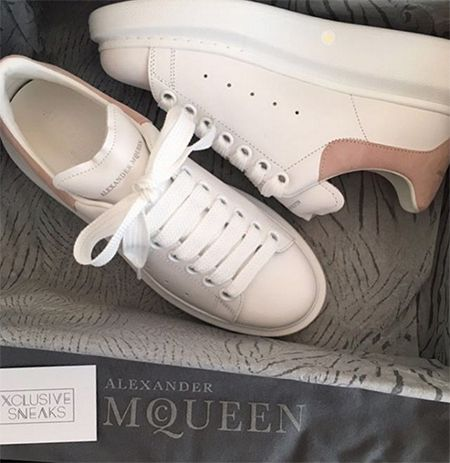 Chloe Lewis on Instagram Feb 3, 2017, showing a pair of Alexander McQueen sneakers https://api.shopstyle.com/action/apiVisitRetailer?id=621134722&pid=uid7729-3100527-84. #style #celebstyle #alexandermcqueen #instagram