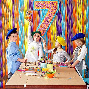Love this party idea (Masterpiece Bash) from Family Fun for a kids