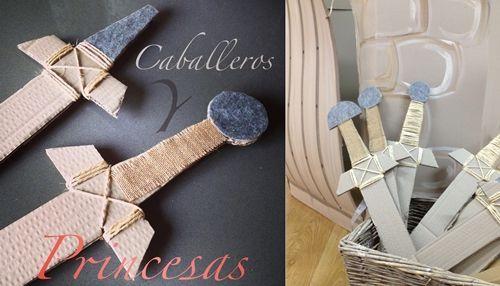 espadas disfraz caballeros Fiesta Caballeros y Princesas:
