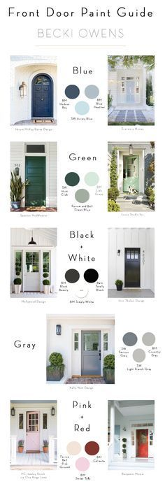 Stunning BECKI OWENS Spring Curb Appeal Painted Front Doors Paint Guide