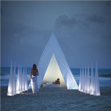 Gandia Blasco Tipi - Style # tipi, Modern Cabana - Contemporary Pavilion - Modern Outdoor Structures | SwitchModern.com on Wanelo