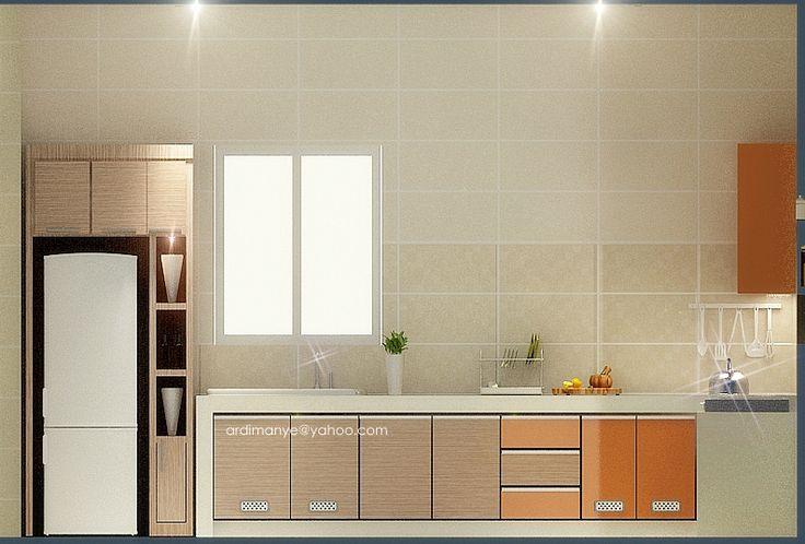 desain dapur - tampak depan