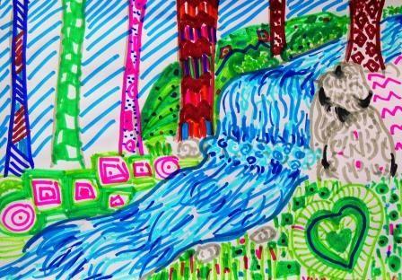 PUERTAS A LA IMAGINACIÓN: Texturas visuales a color