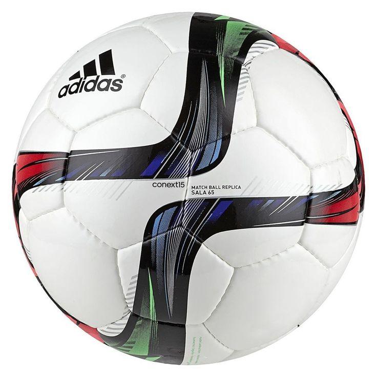 Piłka nożna adidas Conext15 sala 65 r4 M36896. Piłka nożna adidas Conext15 przeznaczona do gry na sali. Piłka szyta z pięcio i sześciokątnych paneli. Piłka z najwyższym atestem FIFA APPROVED, gwarantuję najwyższy poziom wykonania. #pilkanozna #pilkahalowa #sportyduzynowe