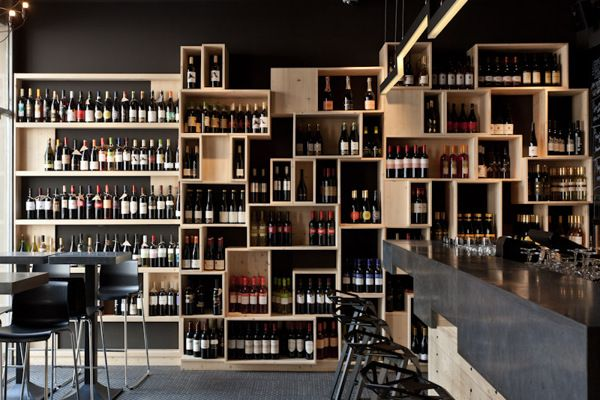 DiVino wine bar by suto , via Behance..... I would use as a bookshelf. Floor color is why I selected this pic.
