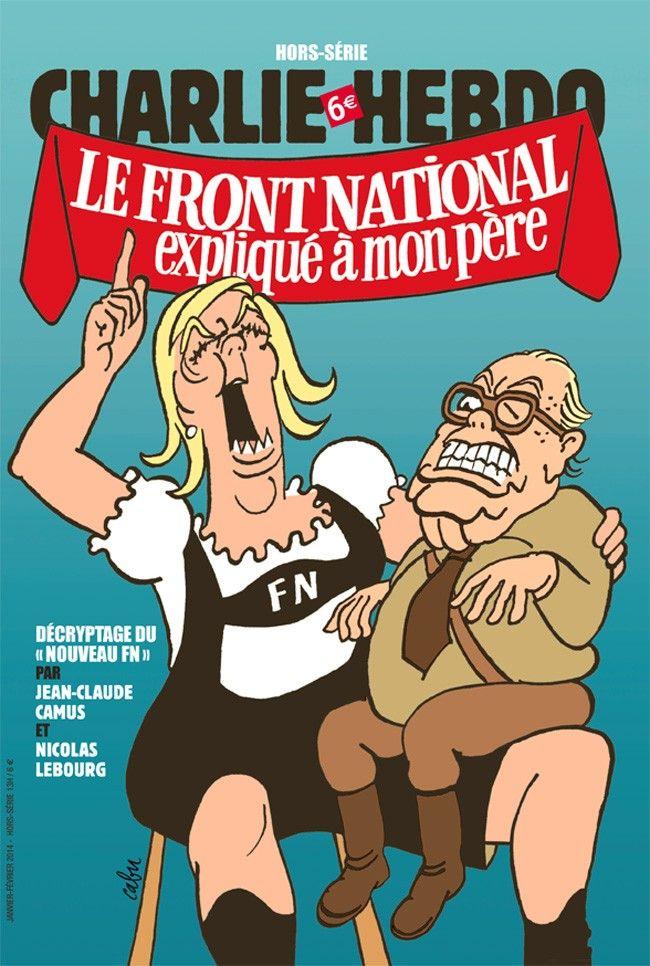 Charlie Hebdo - Hors Série # 39 - # 13 - Le Front National expliqué à mon père - Janvier 2014 - Couverture : Cabu