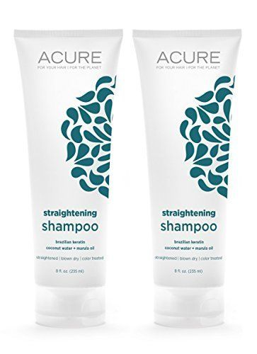 Acure Organics Coconut Straightening Brazilian Keratin Coconut Water  Marula Oil Natural Shampoo 8 fl oz Pack of 2 >>> You can get additional details at the image link.