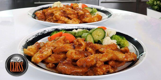 Φιλετάκια κοτόπουλου με μουστάρδα και πορτοκάλι