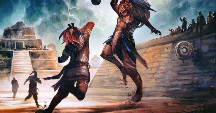 """En el Popol Vuh, el libro sagrado o """"Génesis"""" de los mayas, se relata que en los lejanos tiempos de la creación del universo, los hermanos Hunahpú e Ixbalanqué representaban el lado luminoso del Cosmos. Y fueron ellos justamente quienes debieron enfrentarse a los guardianes de Xibalbá, el inframundo de los mayas, seres que causaban las desgracias y las enfermedades que aquejaban a los humanos.Esta pugna fue resuelta mediante la práctica del juego de pelota, en Chichén Itzá, en una batalla de…"""