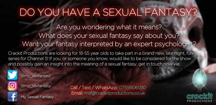 New Channel 5 TV show wants to know your sexual fantasy http://www.cumbriacrack.com/wp-content/uploads/2017/03/MSF-Flyer.jpg Crackit Productions are casting for a new and fun, Channel 5 series exploring the sexual fantasies of people in Britain today. They are looking for people who would like to discuss their sexual fantasy    http://www.cumbriacrack.com/2017/03/09/new-channel-5-tv-show-wants-know-sexual-fantasy/