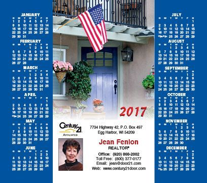 2017 magnetic postcard calendars for realestate agents buy now and save
