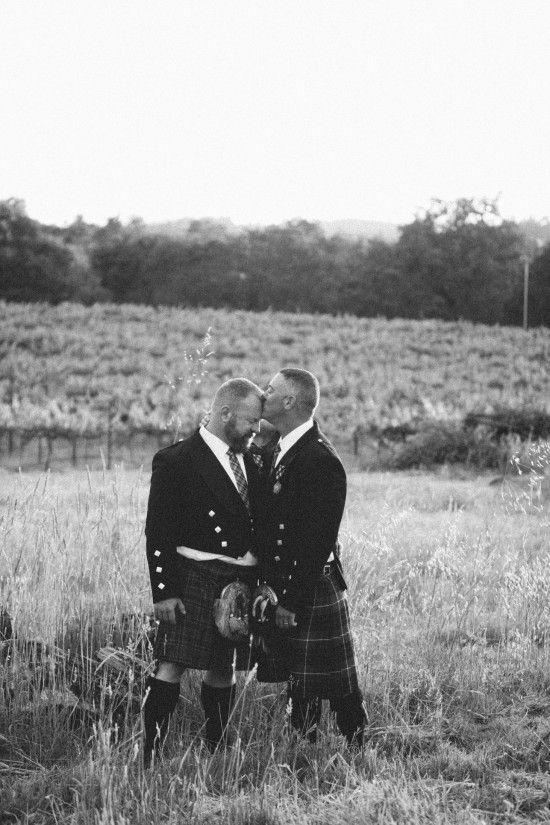 Two grooms, two kilts, one wedding. <3 : Ashley Batz, APW