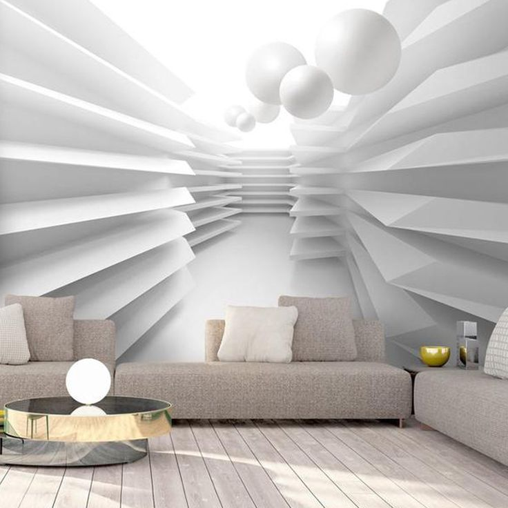3d wallpaper mural White Maze | Optical illusion wall mural, removable wallpaper. Temporary wallpaper, large wallpaper living room bedroom