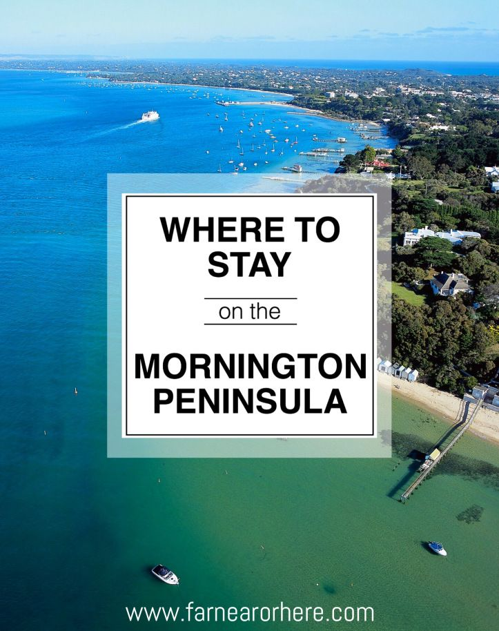 Five fabulous places to stay on Victoria's Mornington Peninsula...