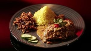 Indonesian Grilled Chicken with Sambal and Tempeh