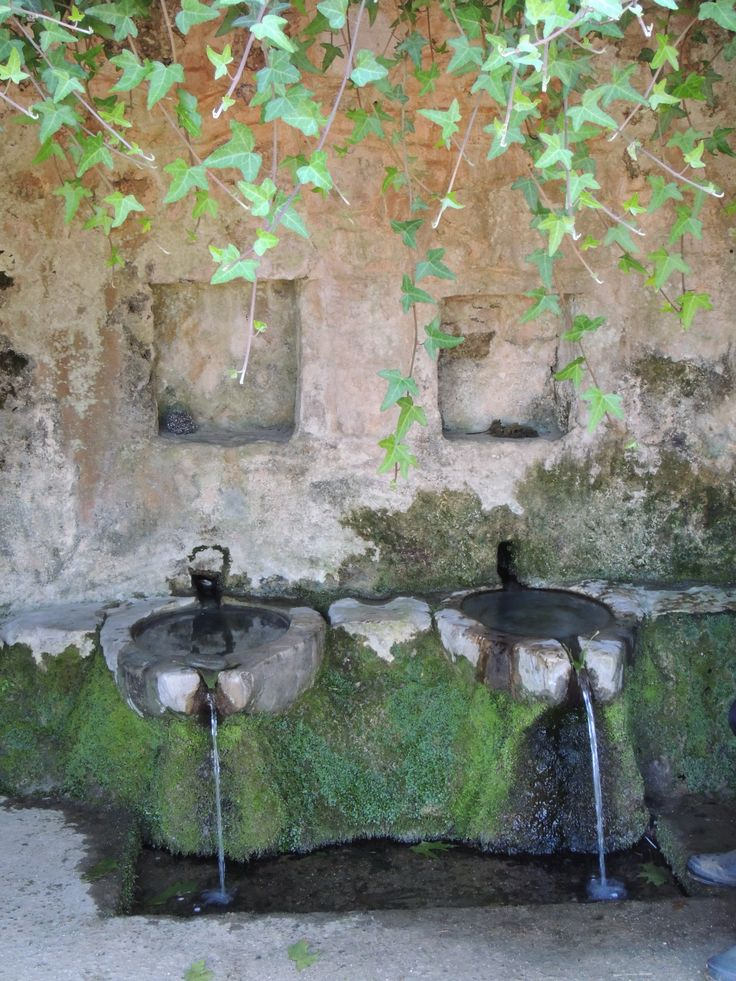"""A stop for fresh water at """"Trani Vrysi"""" (Great Spring)"""