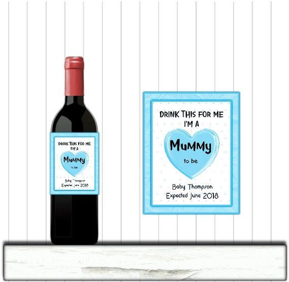 graphic regarding Printable Sticky Labels identify Personalized Printable Wine Label, Mum in direction of Be Announcement