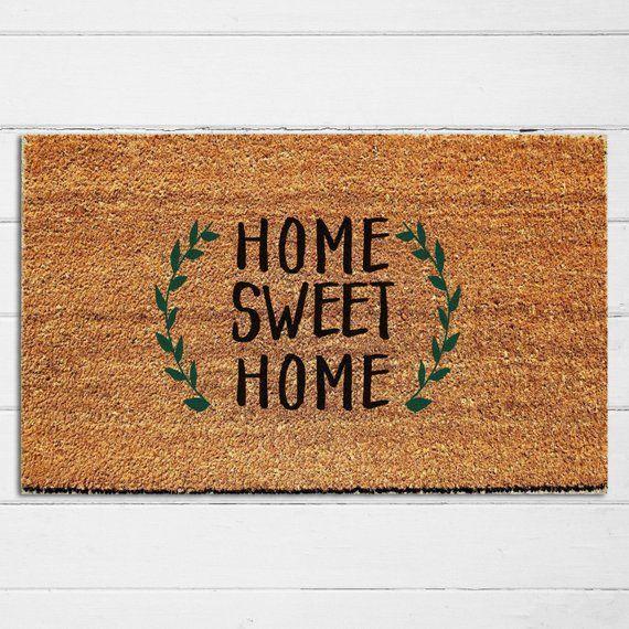 """Home Sweet Home Coir Doormat Everyday Natural Fiber Outdoor 18/"""" x 30/"""""""