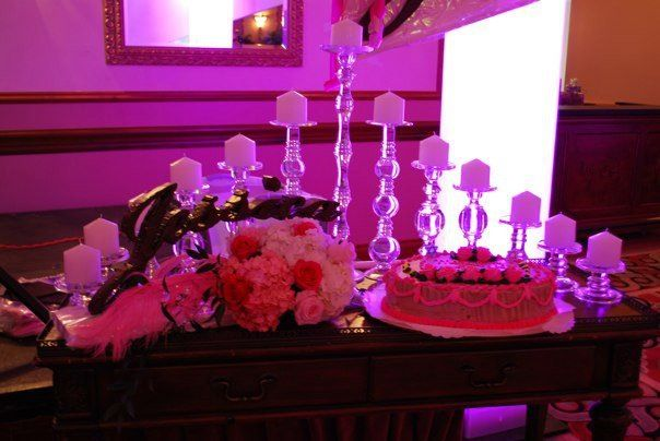 Bat Mitzvah Candle Lighting Display Party Perfect Boca