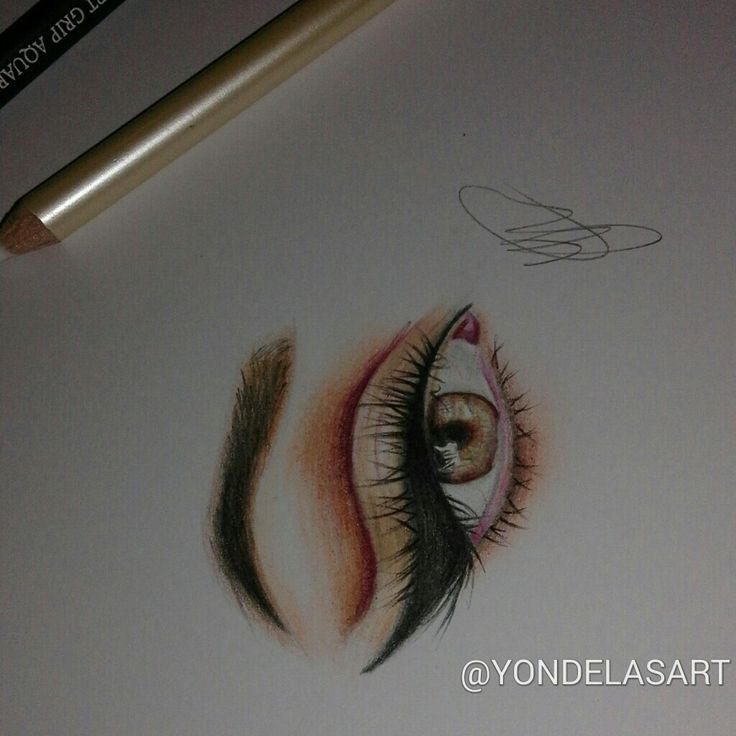 My colour drawing of an eye☺, so proud!