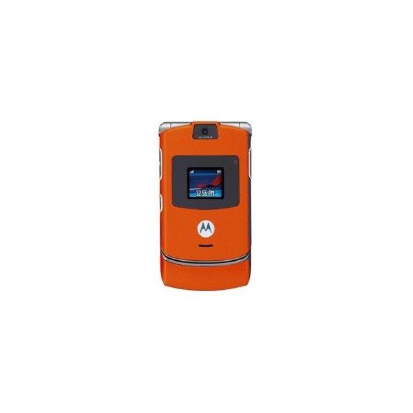 Amazon.com: Motorola V3 RAZR Orange Phone (Unlocked): Cell Phones &... ❤ liked on Polyvore featuring electronics, phones, cell phones, accessories and orange