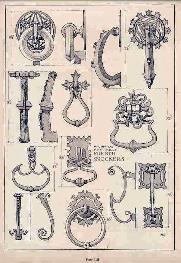 Samuel Chamberlain (1895-1975-American) - DARF - Plate 1.3 - 16th - 17th and 18th french knockers - 1928