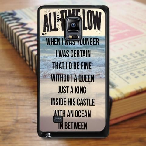 All Time Low Sea Qoutes Samsung Galaxy Note 3 Case