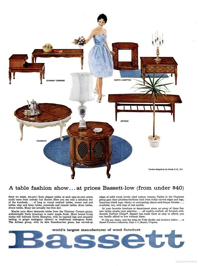 Bassett Furniture Ad (1962)