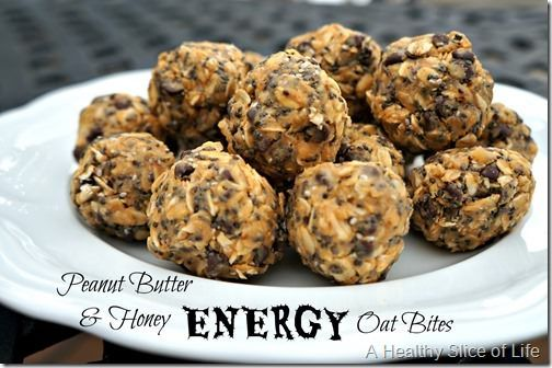 Energy Oat Bites recipe.  This delicious no-bake, healthy cookie alternative will satisfy the feistiest sweet tooth while packing a healthy punch of oats and chia seeds.