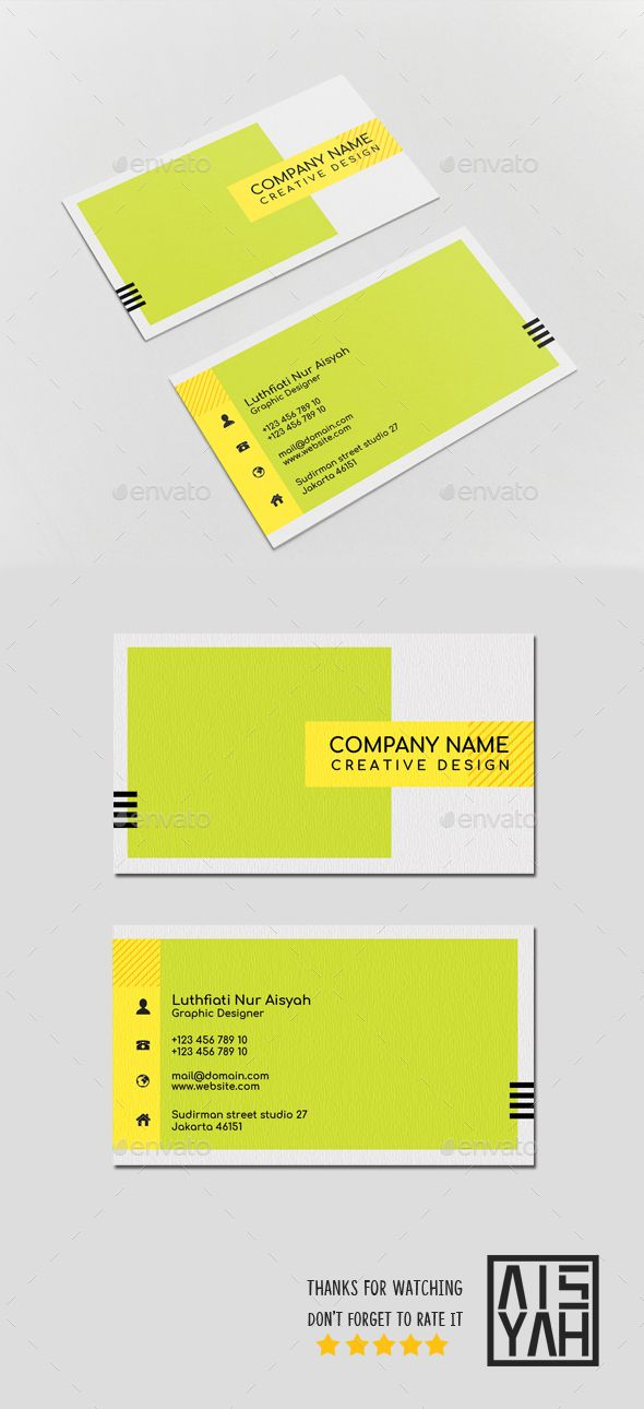 #Business #Card Color Block - Business Cards Print Templates Download here: https://graphicriver.net/item/business-card-color-block/19891729?ref=alena994