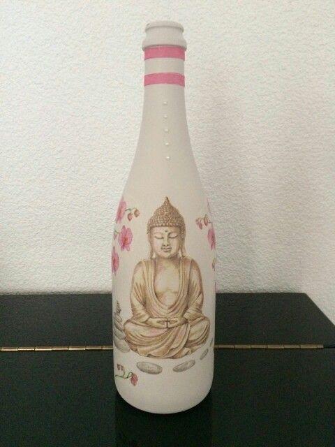 Gesso flessen, versierd met servet