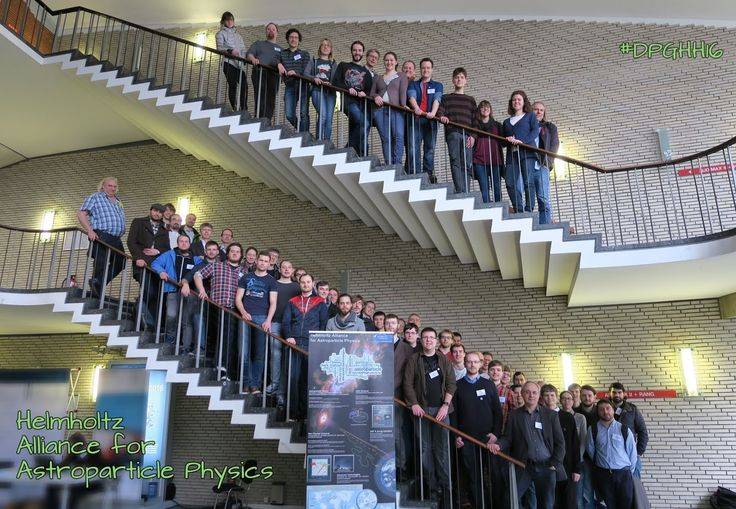 The HAP astroparticle community comes in number for the Spring Meeting of the German Physics Society 2016 #DPGHH16 at Uni Hamburg! :-)