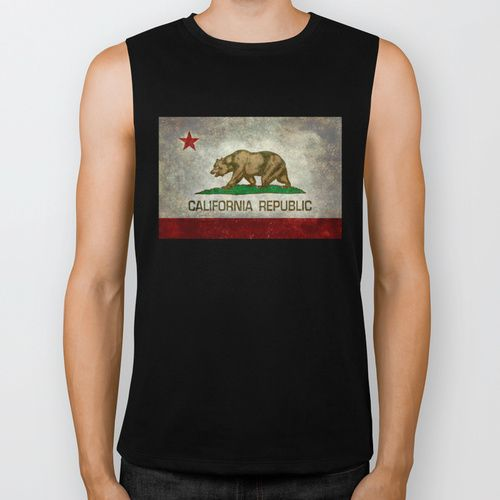 State flag of California Biker Tank by LonestarDesigns2020 - Flags Designs +   Society6