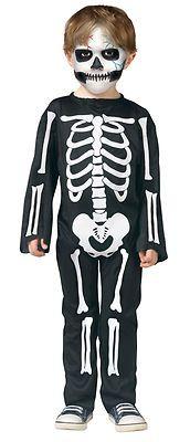 SKELETON jumpsuit bones scary boys baby toddler halloween costume 24M - 2T