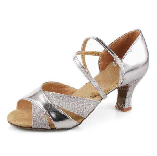 Women's Latin Ballroom Heels Sandals Leatherette Dance Shoes