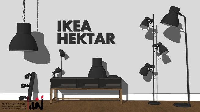 Large preview of 3D Model of IKEA HEKTAR