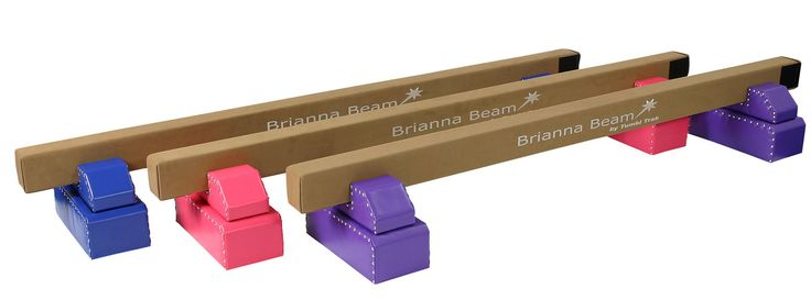 """This Tumbl Trak Blinged out 8' suede home gymnastics low balance beam is constructed of wood with a 1/4"""" rubber cell padding on top and is covered with brown suede. The beam itself is 3.93"""" wide, whic"""