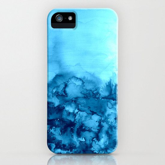 INTO ETERNITY TURQUOISE Art iPhone 4 4s 5 5c 6 Case by EbiEmporium, Colorful Chic Watercolor Nature Painting Cell Phone Tech Device Case Hard Plastic Cover #cellphone #case #iphonecase #iphone4 #iphone5 #iphone5c #iphone5s #iphone6 #samsunggalaxy #samsung #gs4 #gs5 #turquoise #blue #cerulean #outdoors #aqua #floral #flowers #landscape #modern #tech #device