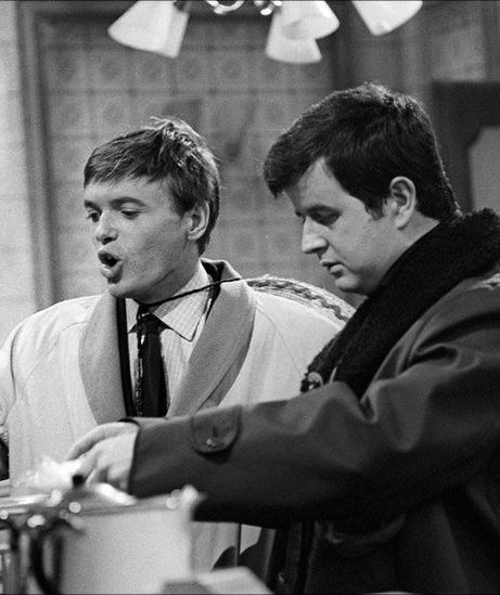 In 1964-6 Terry and Bob were 'The Likely Lads' on BBC tv, 20-something Geordies vainly trying to climb on board the Swinging Sixties before they passed them by. Played by James Bolam and Rodney Bewes, in one episode they take out on the town two London 'dolly birds', played by Wendy Richard and Wanda Ventham - sorry lads, not a chance !