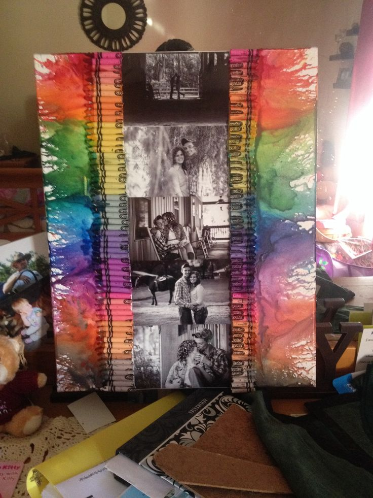 The crayon art I made for my boyfriend for our one year