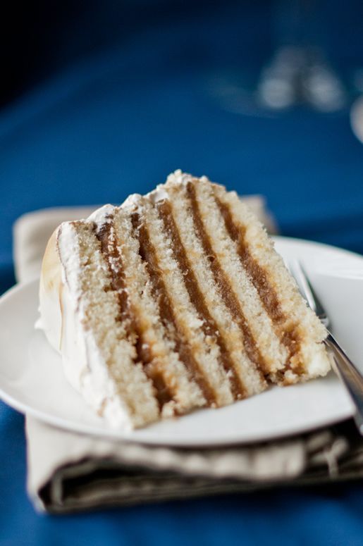 Brandy Apple Cake w Maple Walnut Meringue Frosting