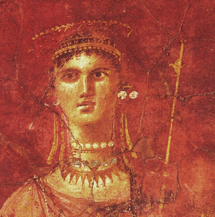 Testa femminile, I d.C. Casa di Fabio Rufo, Pompei. Cultura romana