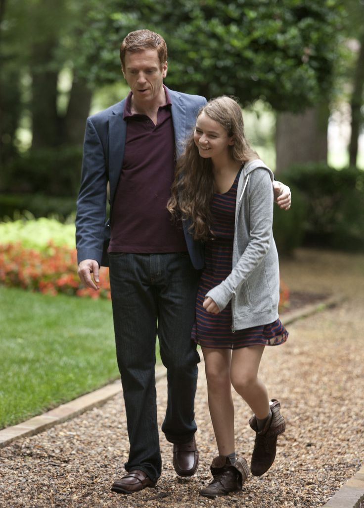 Nicholas Brody (Damian Lewis) and Dana Brody (Morgan Saylor), Homeland, great tv series, portrait, photo