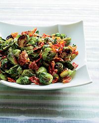Chef April Bloomfield uses juniper berries to give these delicious pan-roasted brussels sprouts with garlic and prosciutto a hint of deep, woodsy flavor.