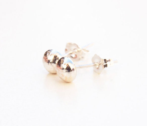 Silver Ball Studs by Kerrie Yeung