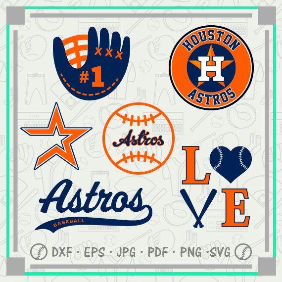 Houston Astros Svg Monogram, Baseball Svg Cutting Files Cliparts, Sport Svg, Instant Download, Baseball Clipart, Co-2704