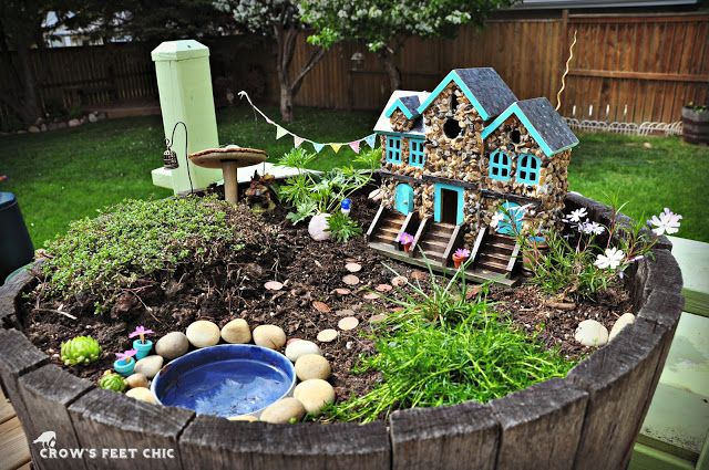 Crow's Feet Chic: Our Fairy Garden