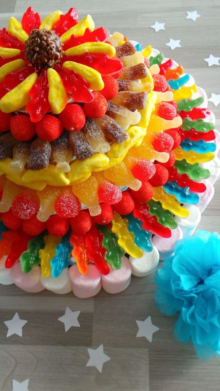 torta infantil con gomitas yummy